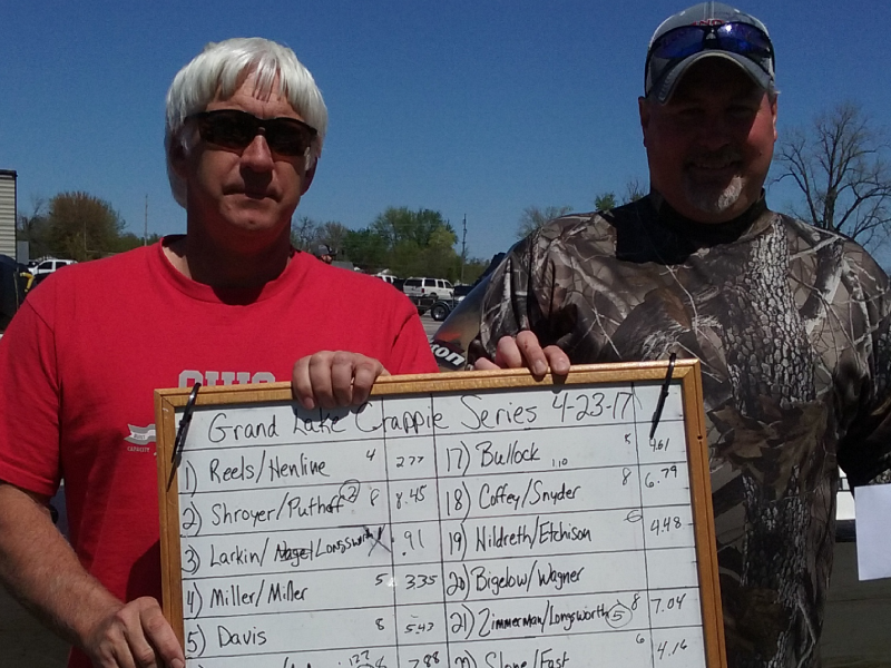 2nd Place Grand Lake Crappie Series 4-23-2017 tourney