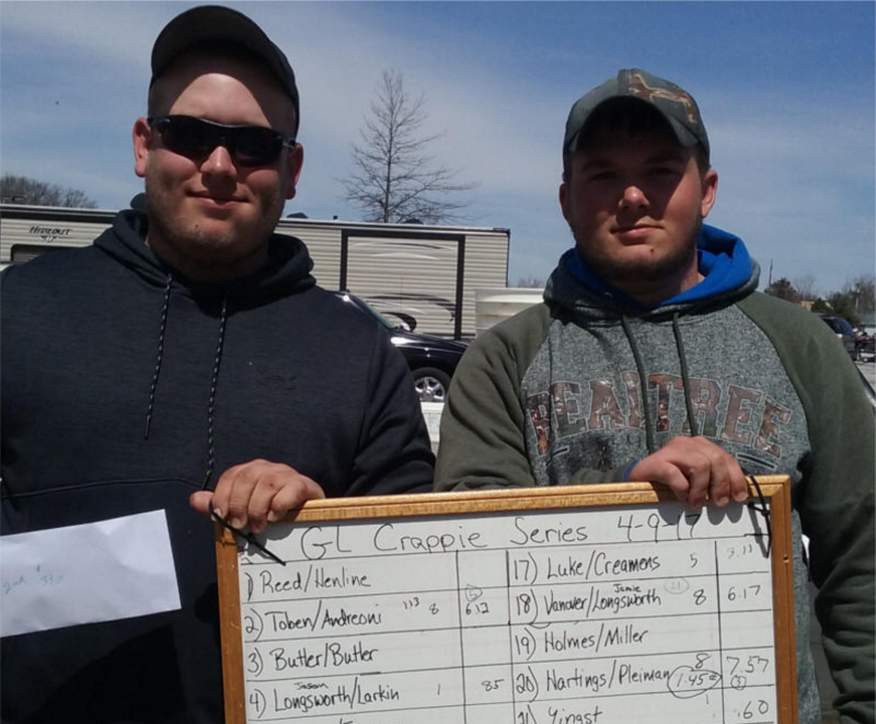 2nd place 4-9-17 Grand Lake Crappie Sereis