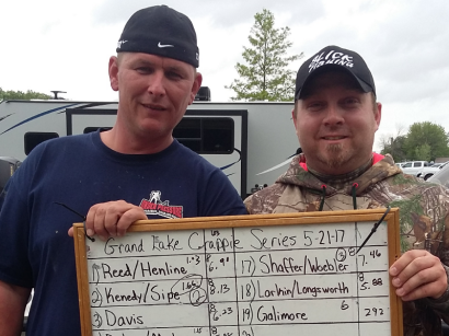 1st place 4th tournament Grand Lake Crappie Series