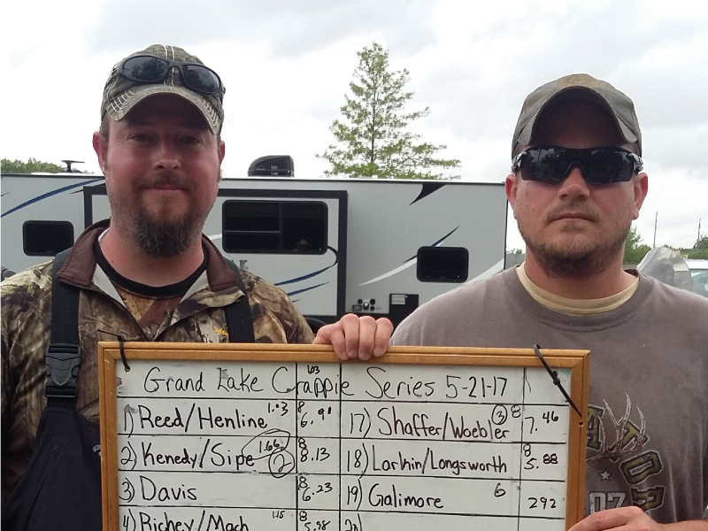 2nd place 4th tournament Grand Lake Crappie Series