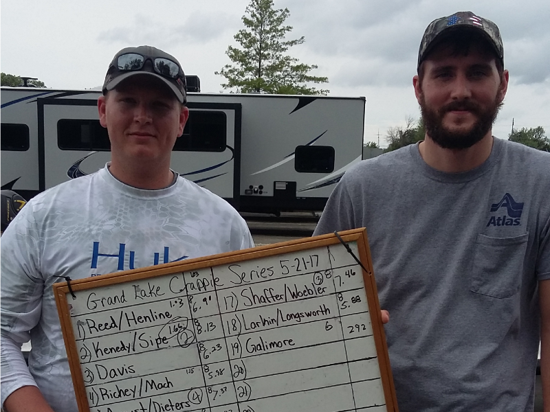 3rd place 4th tournament Grand Lake Crappie Series