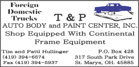 GLCS Sponsor T&P Auto Body and Paint